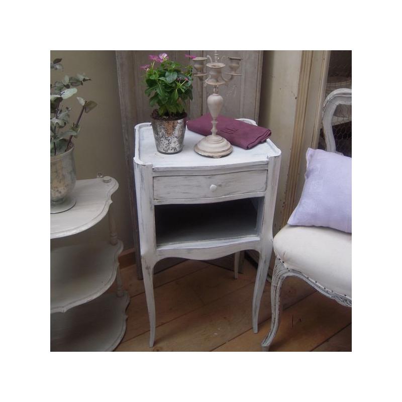 chevet style louis xvi patine l 39 ancienne gris gustavien 1 tiroir. Black Bedroom Furniture Sets. Home Design Ideas
