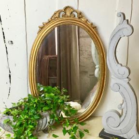 Miroir Ovale Doré XIXème