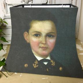 Abat jour Portrait Jeune Garçon du 18ème