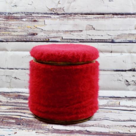 Pouf Coffre Pelfran Moumoute Rouge