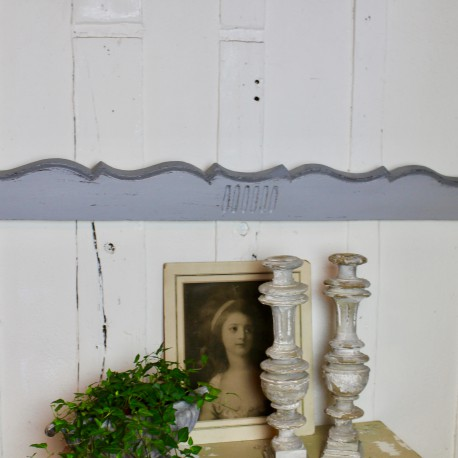 Grand Fronton Patine Grise Shabby