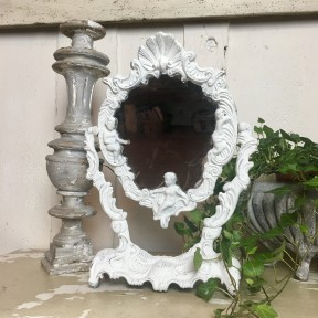 Miroir Psyché Chérubins Blanc