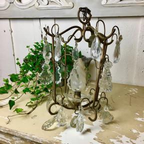 Lustre Cage en Bronze à Pampilles