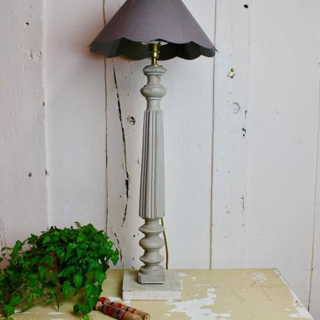 Pied de Lampe Patiné Vert de Gris