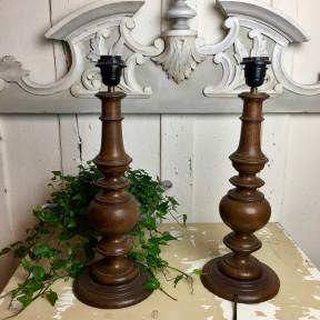 Paire de Pied de Lampes Anciennes
