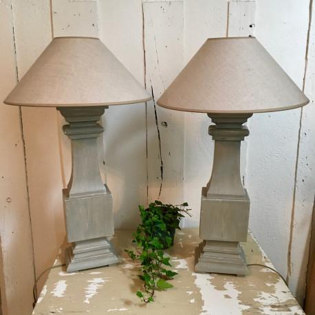 Paire de Lampes Balustre