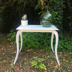 Table Console Style Louis XVI Patine Blanche
