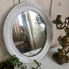 Miroir Ovale Blanc Shabby