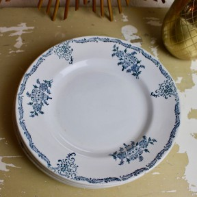 Lot de 7 Assiettes Plates Manufacture de Saint-Amand