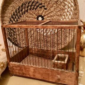 Cage à Oiseaux en Bois