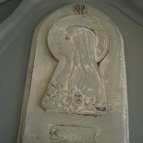 Médaillon Notre Dame de Lourdes Patiné Gris