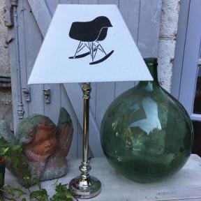 Lampe Metal et son Abat-jour Charles Eames