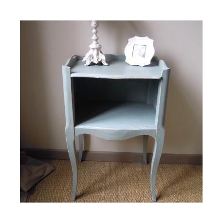 chevet style louis xvi patine l 39 ancienne bleu scandinave. Black Bedroom Furniture Sets. Home Design Ideas