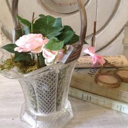 Vase en cristal fin XIXème